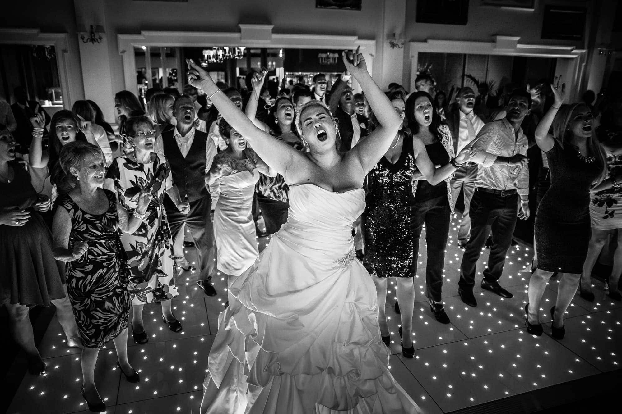 Dancing to Jocelyn Brown live at Wentworth Wedding party