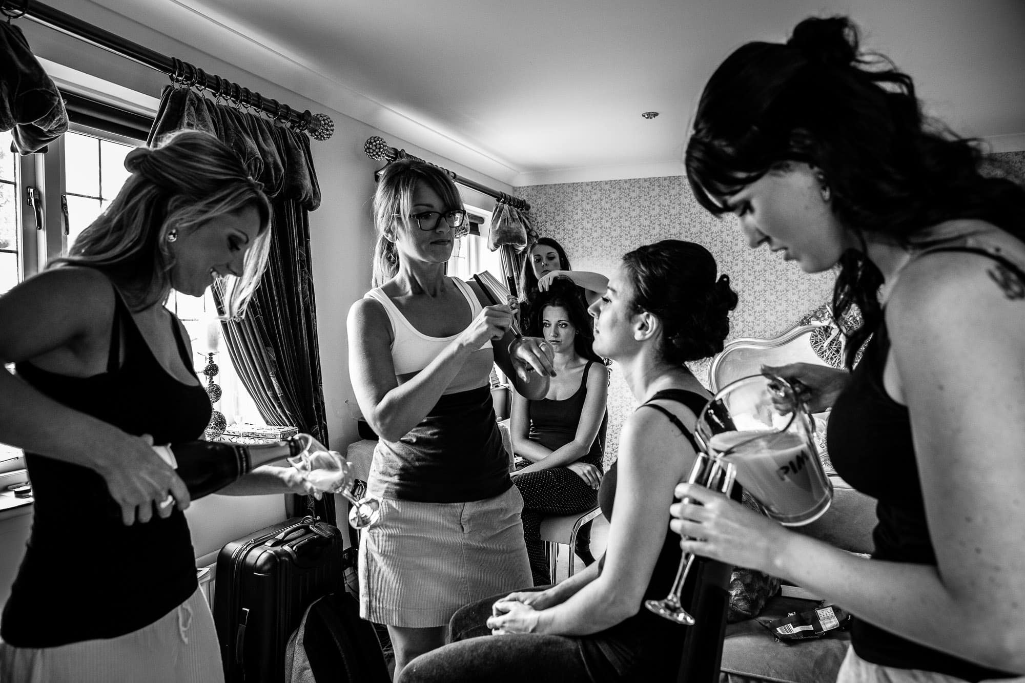 Bridal Preparation at Russets Country House Wedding Venue Make up by Kristina Gasperas