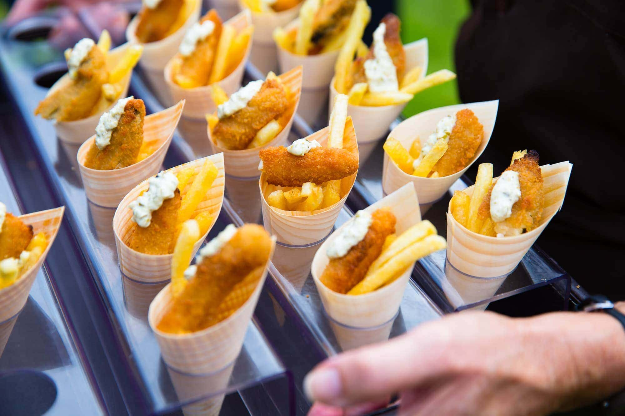 Fish & Chip Canapés by Just Jane Catering