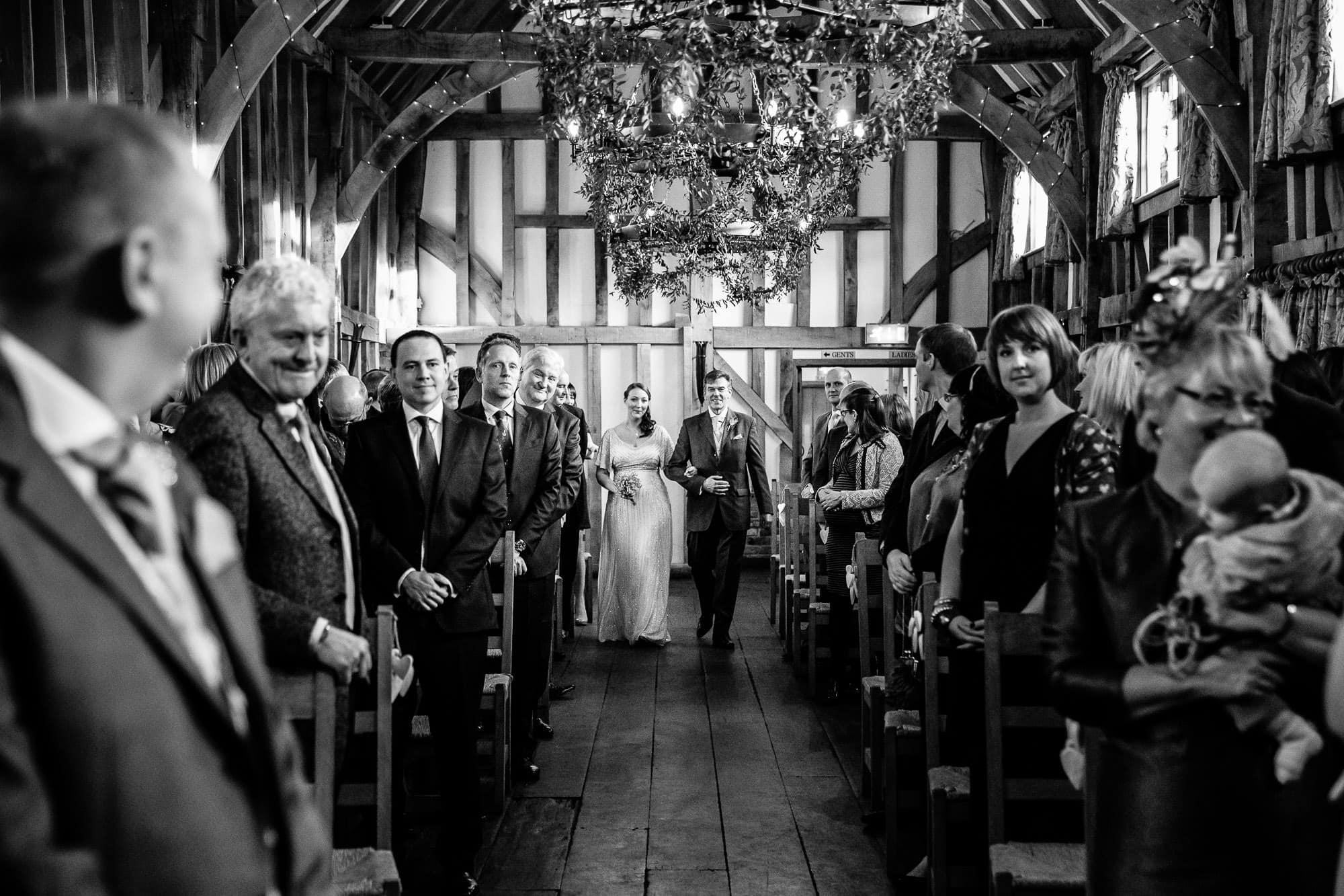 Gate Street Barn Wedding ceremony