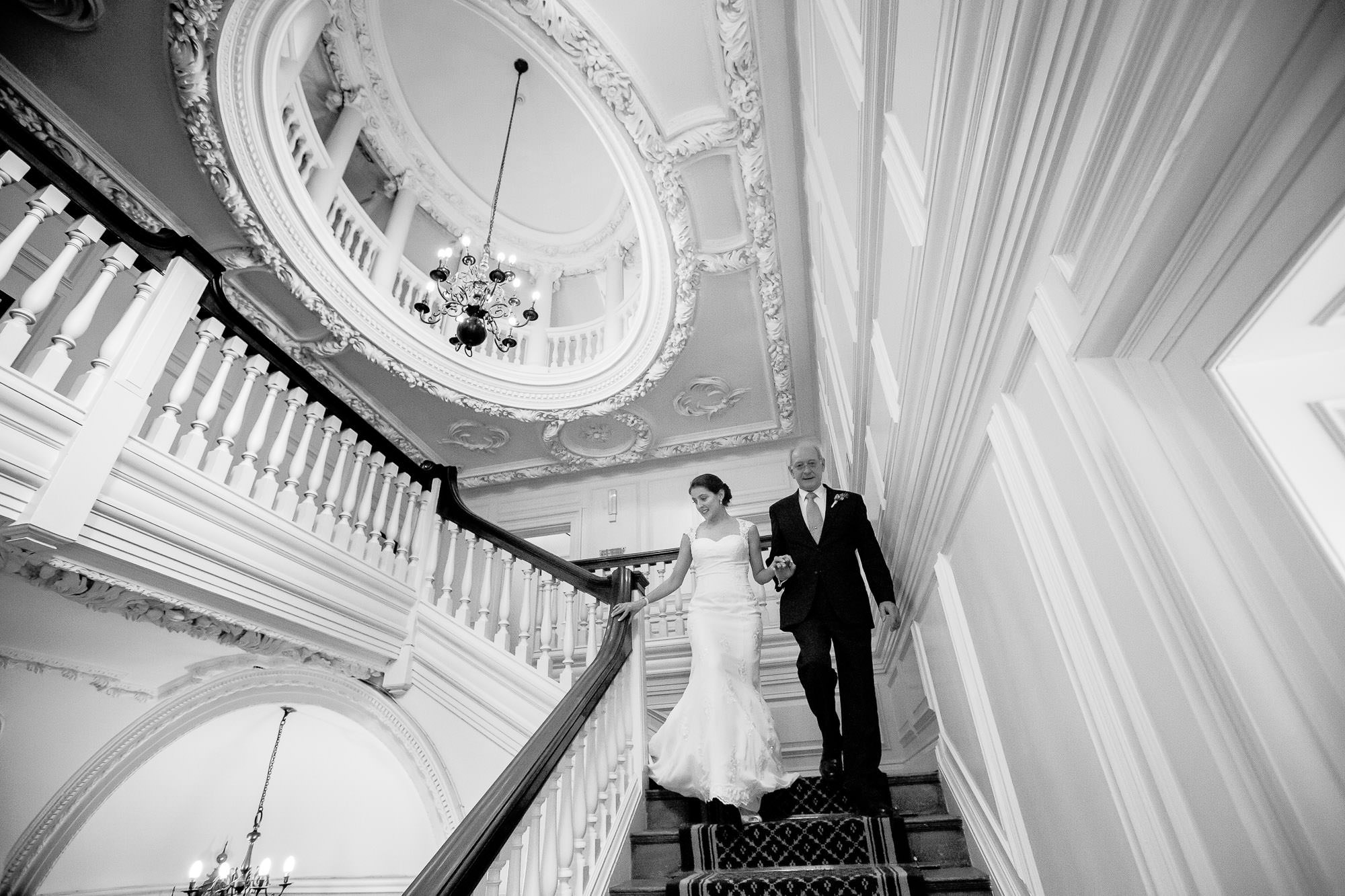 Fantastic Staircase - Barnett Hill Wedding Photography