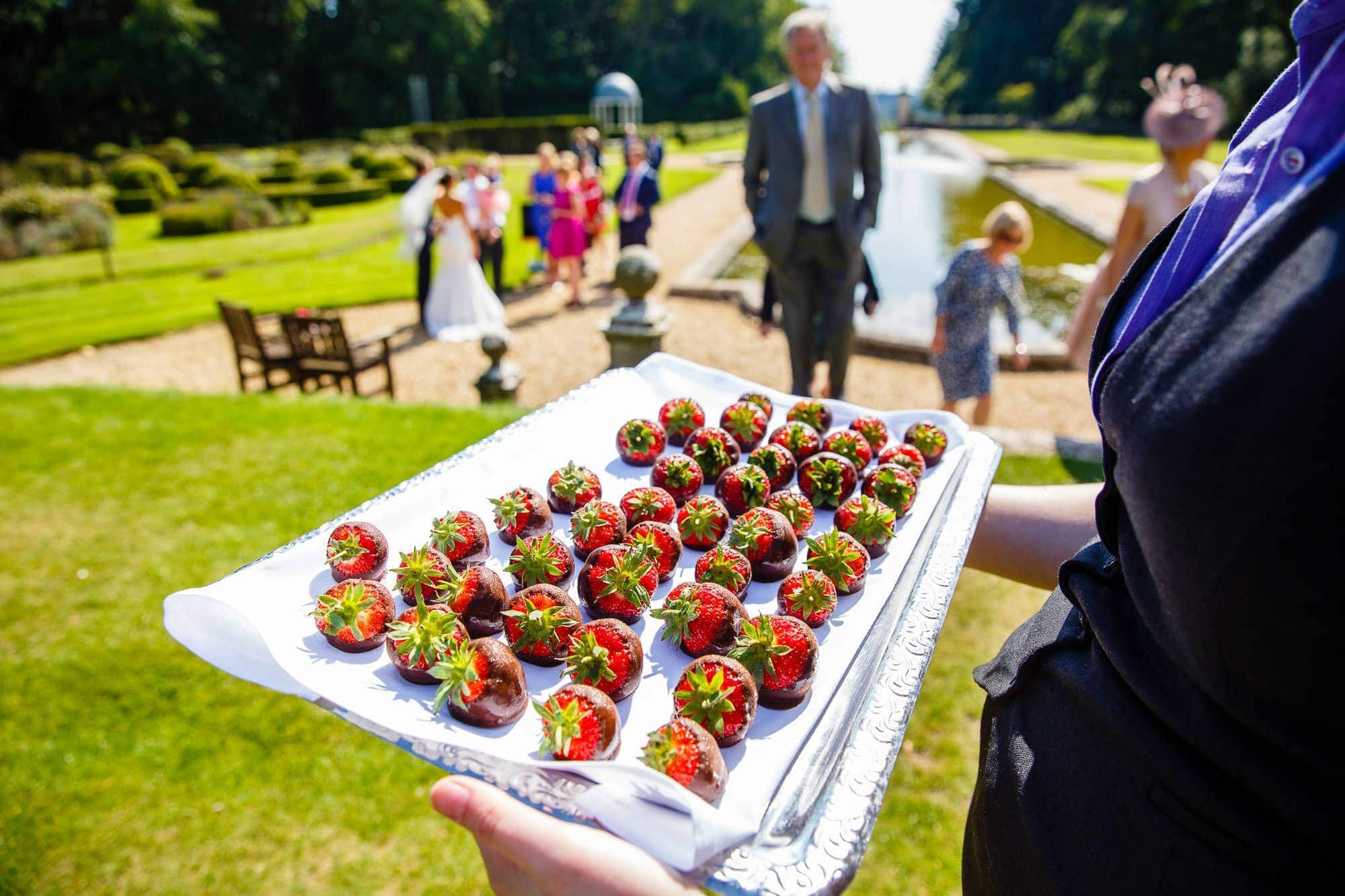 Chocolate Strawberries - Wedding Reception at Rhinefield House Hotel