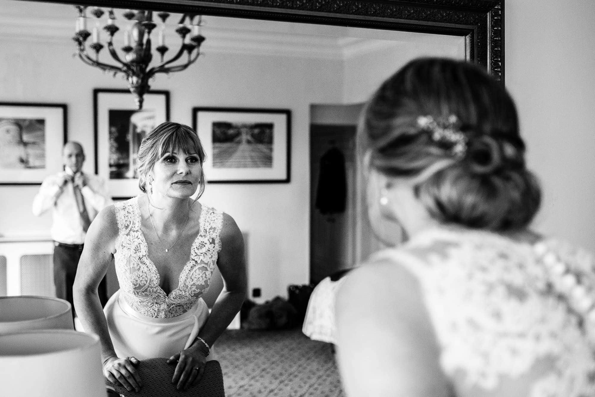 Bride and Groom prep at Oakley Court