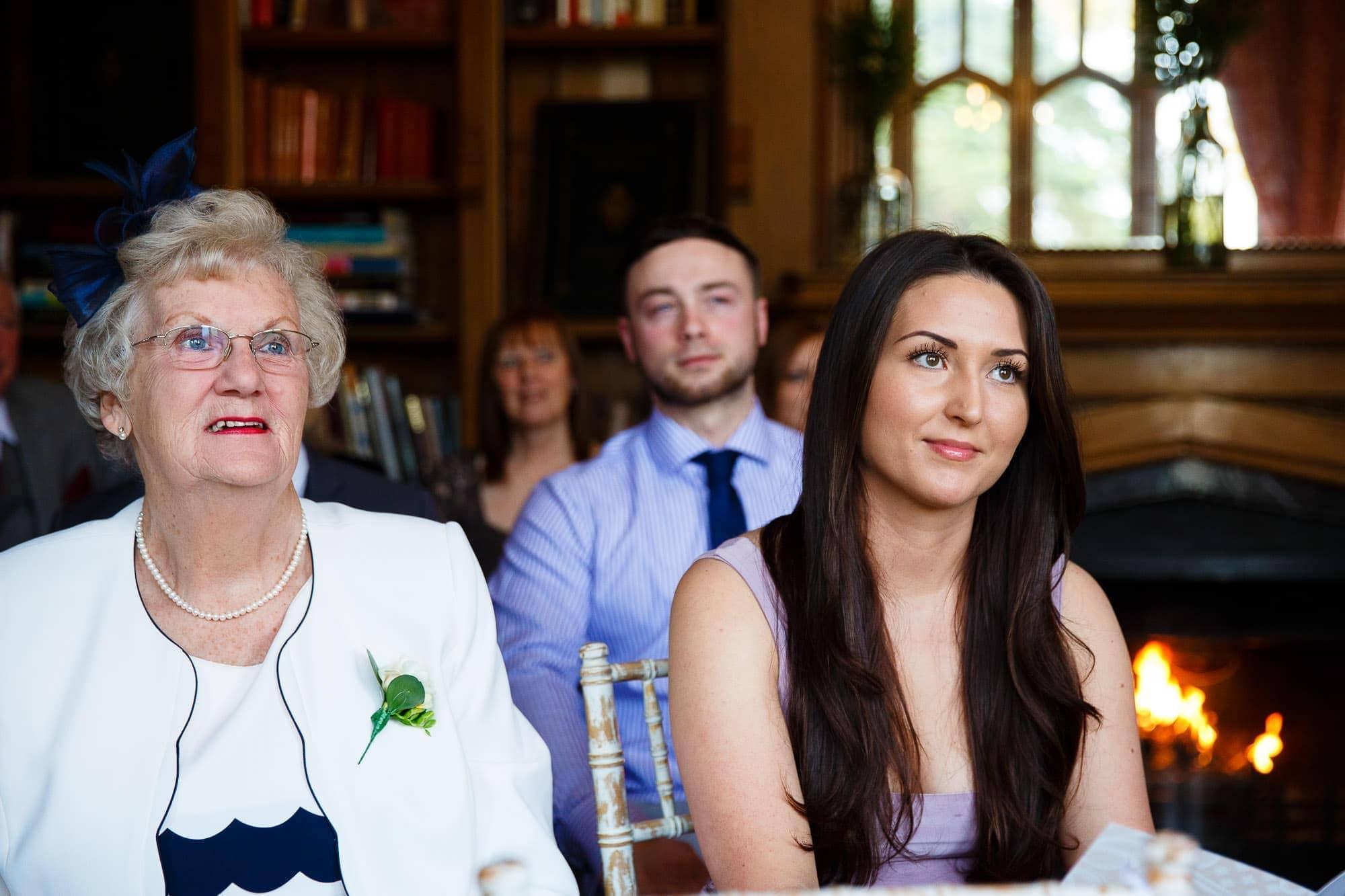 Wedding Guests at Oakley Court Wedding