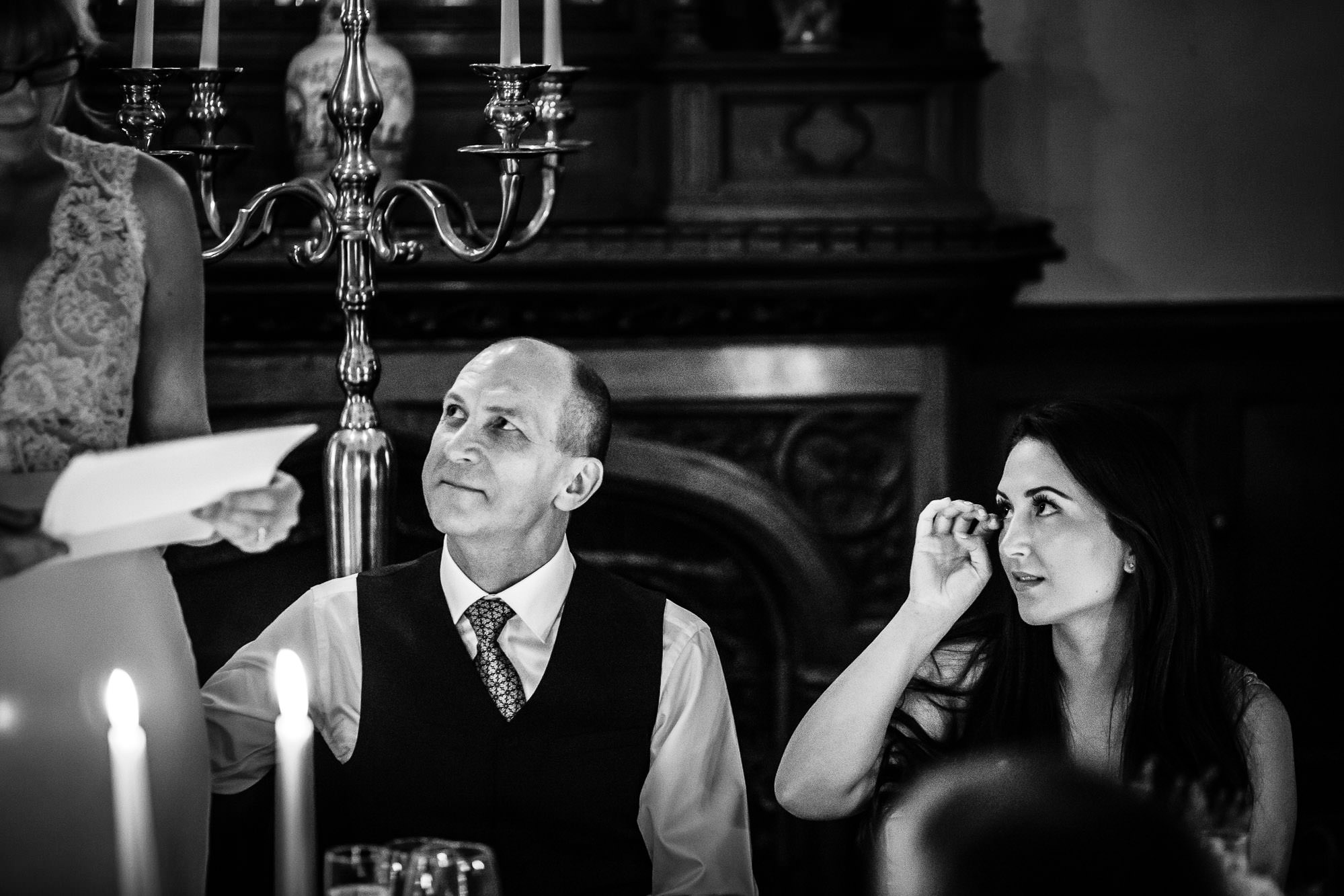Candlelit Wedding Breakfast at Oakley Court Hotel, Berkshire
