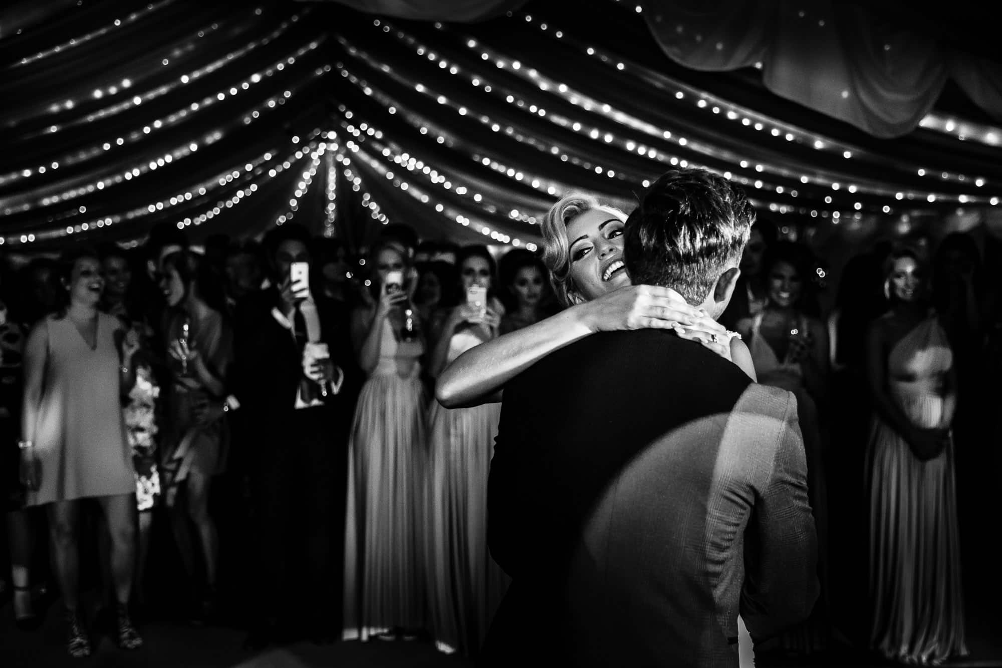 Surrey Wedding Photographer - First Dance - Black and White