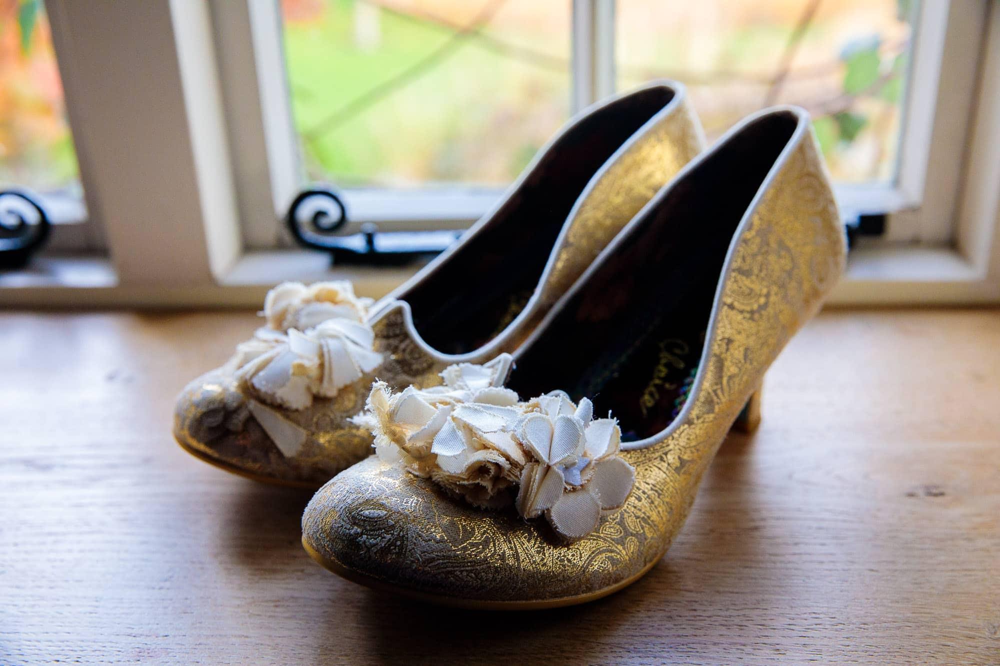 Bury Court Barn Wedding Photography Wedding Shoes by Irregular Choice