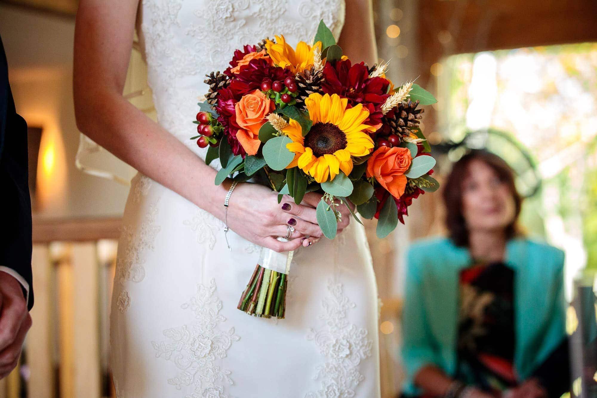 Bury-Court-Barn-Wedding-Photography Autumn Wedding Bouquet Wedding Flowers