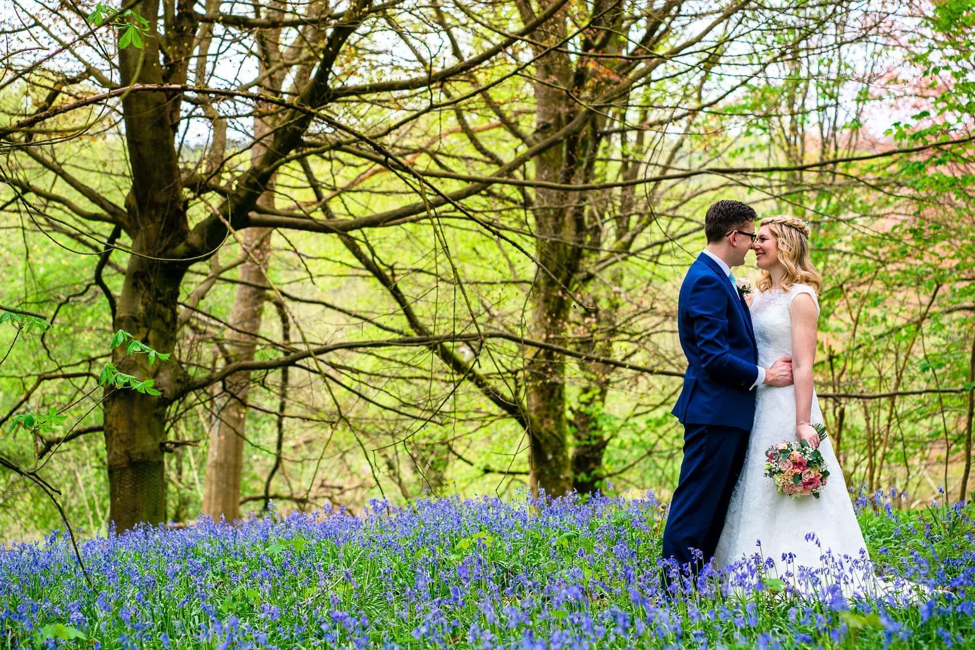 Gate Street Barn Wedding Photography - Bluebell Woods Portrait