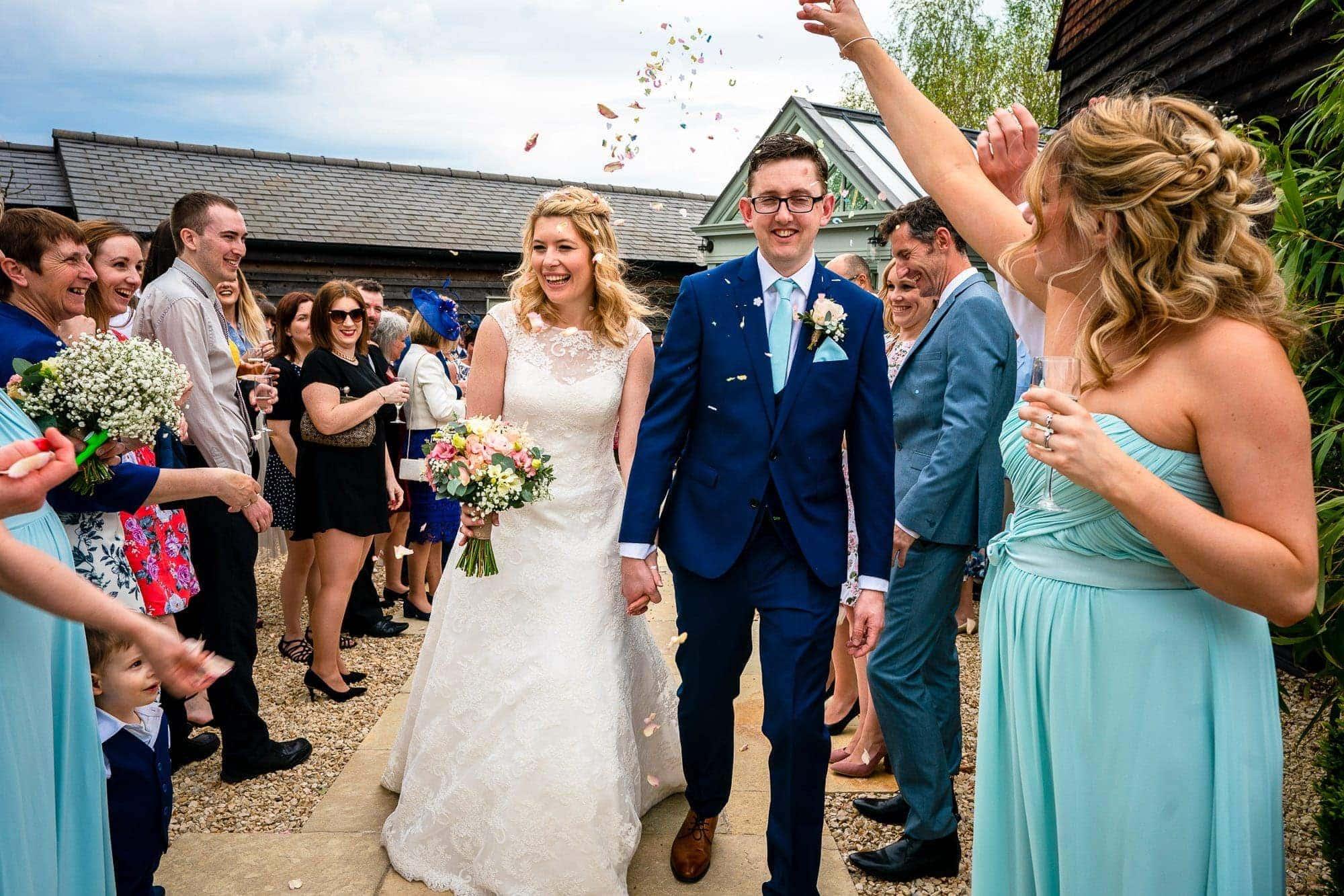 Gate Street Barn Wedding Photography - Confetti Throw