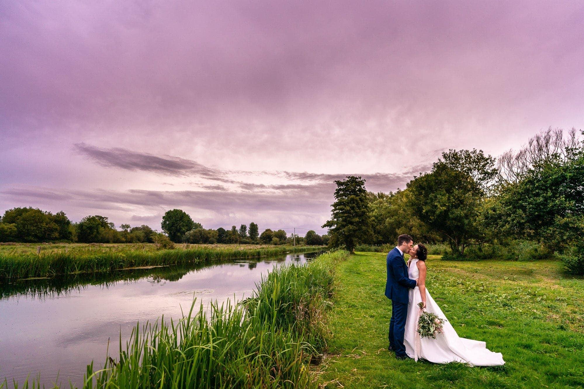 Greyhound on Test Stockbridge Wedding Photography