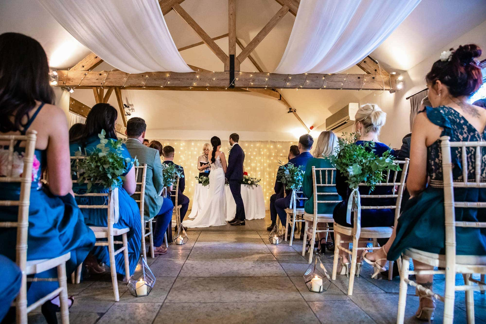 Farbridge Wedding Ceremony - shot from the back of the room