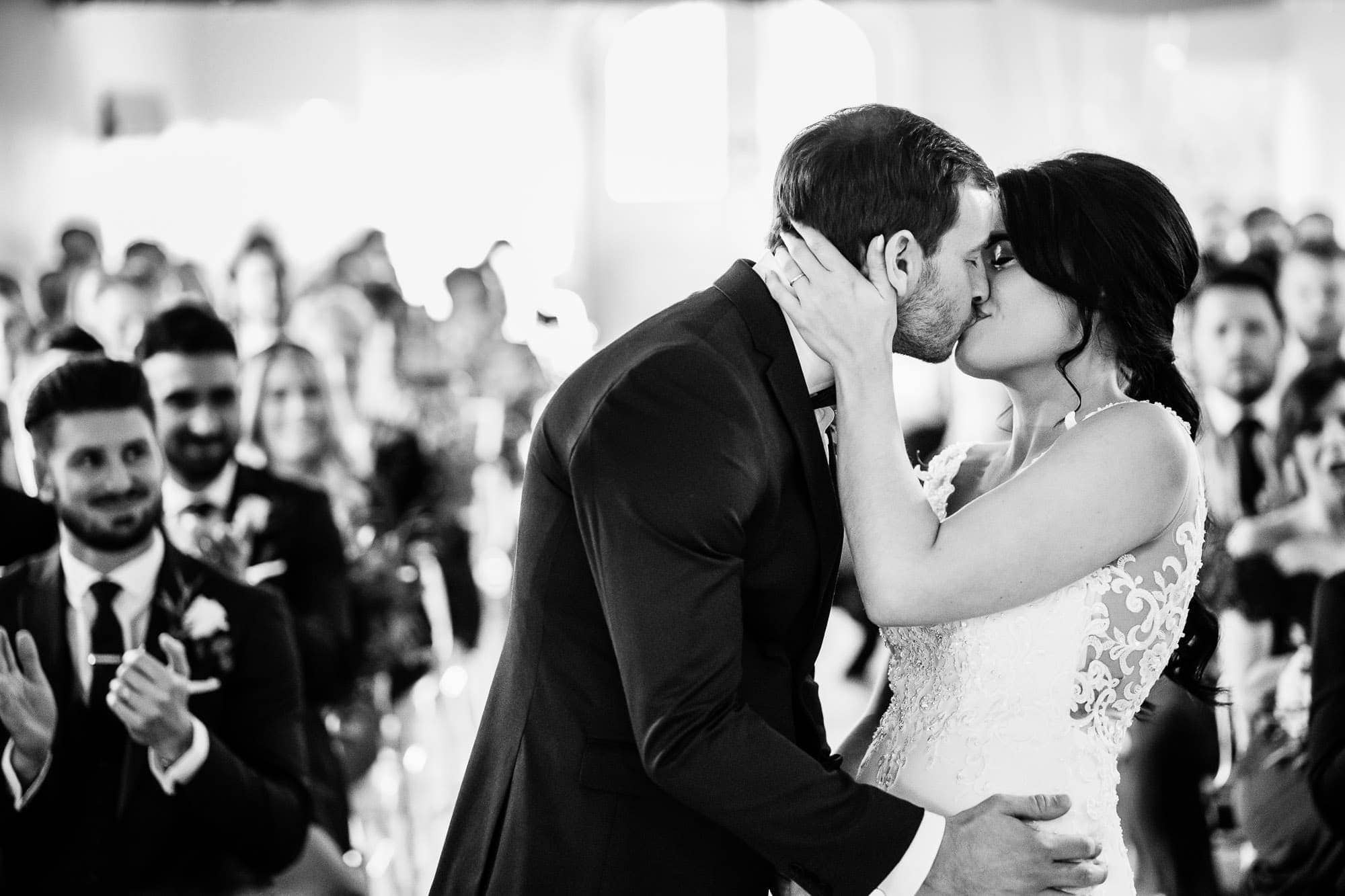 BW First Kiss - Farbridge Wedding Ceremony