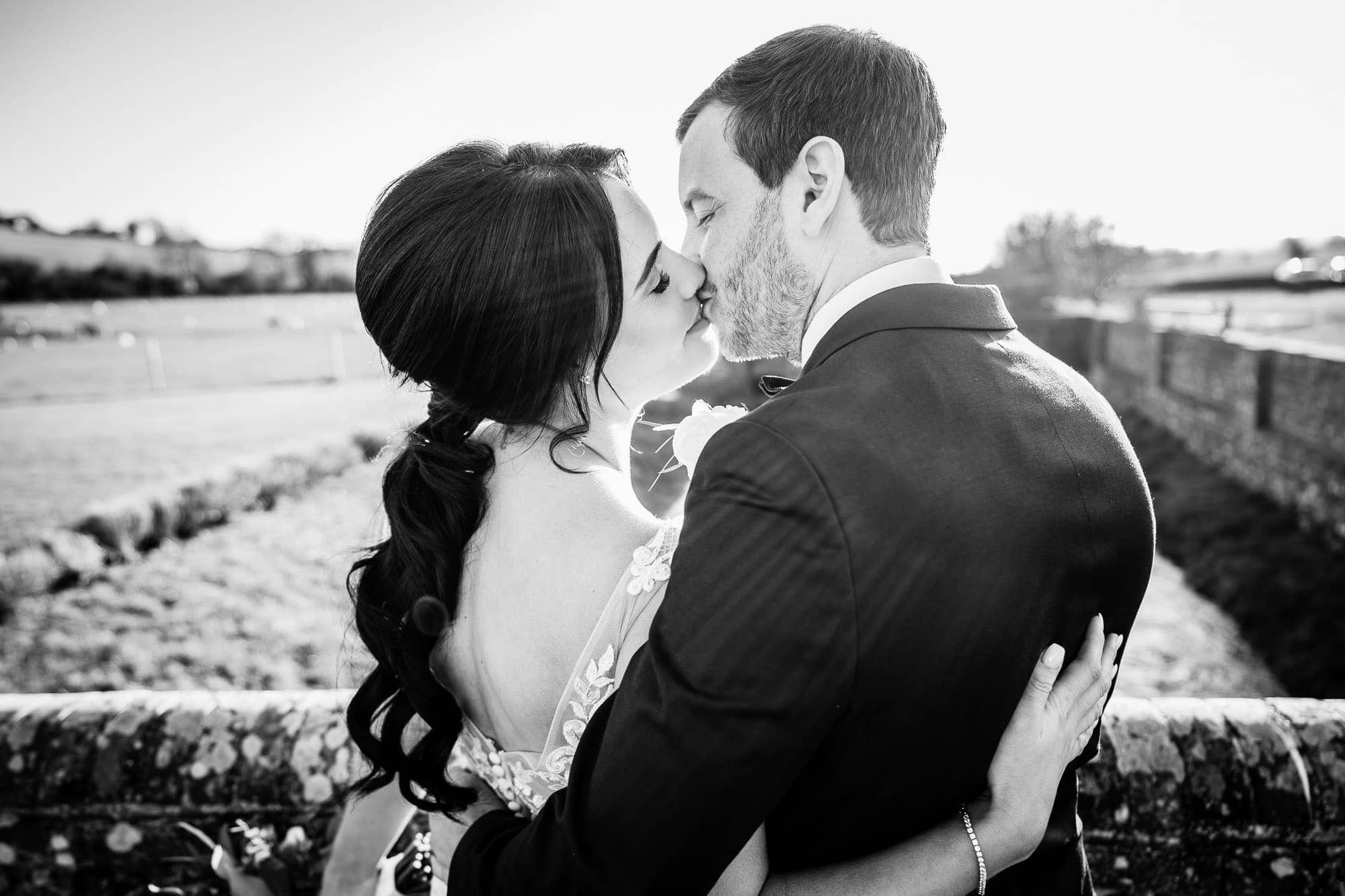 BW Wedding Portrait - Farbridge Wedding Photography