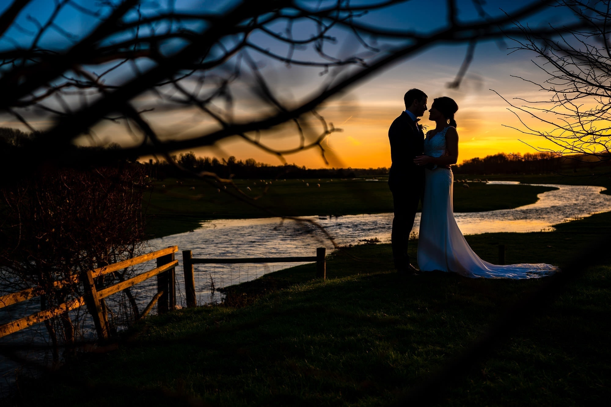 Sunset Wedding Portrait - Farbridge Wedding Photography
