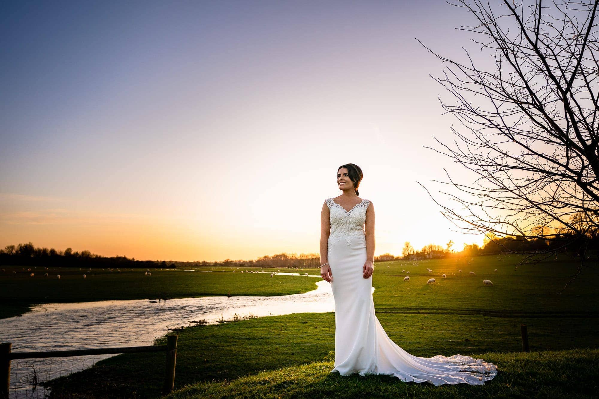 Sunset Portrait of Bride - Farbridge Wedding Photography