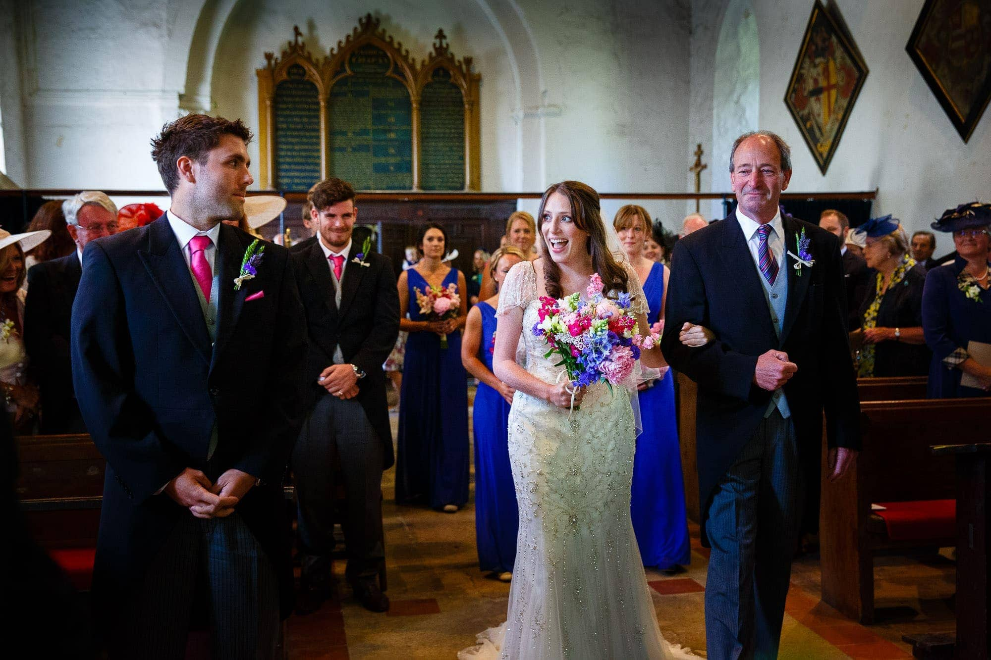 Wedding Ceremony at Warnford Church, West Meon