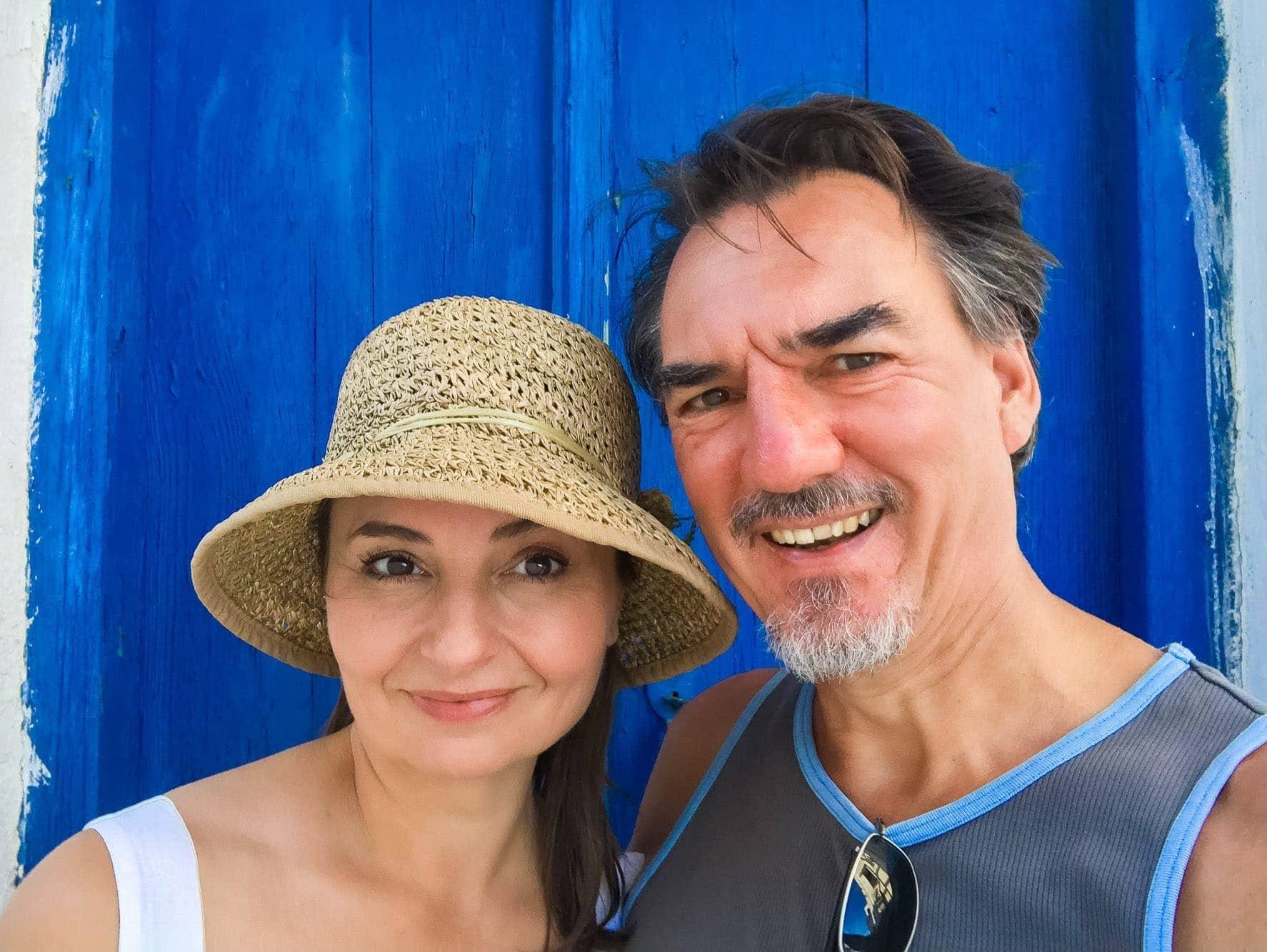 Carol & Paul Tansley Blue Door Selfie