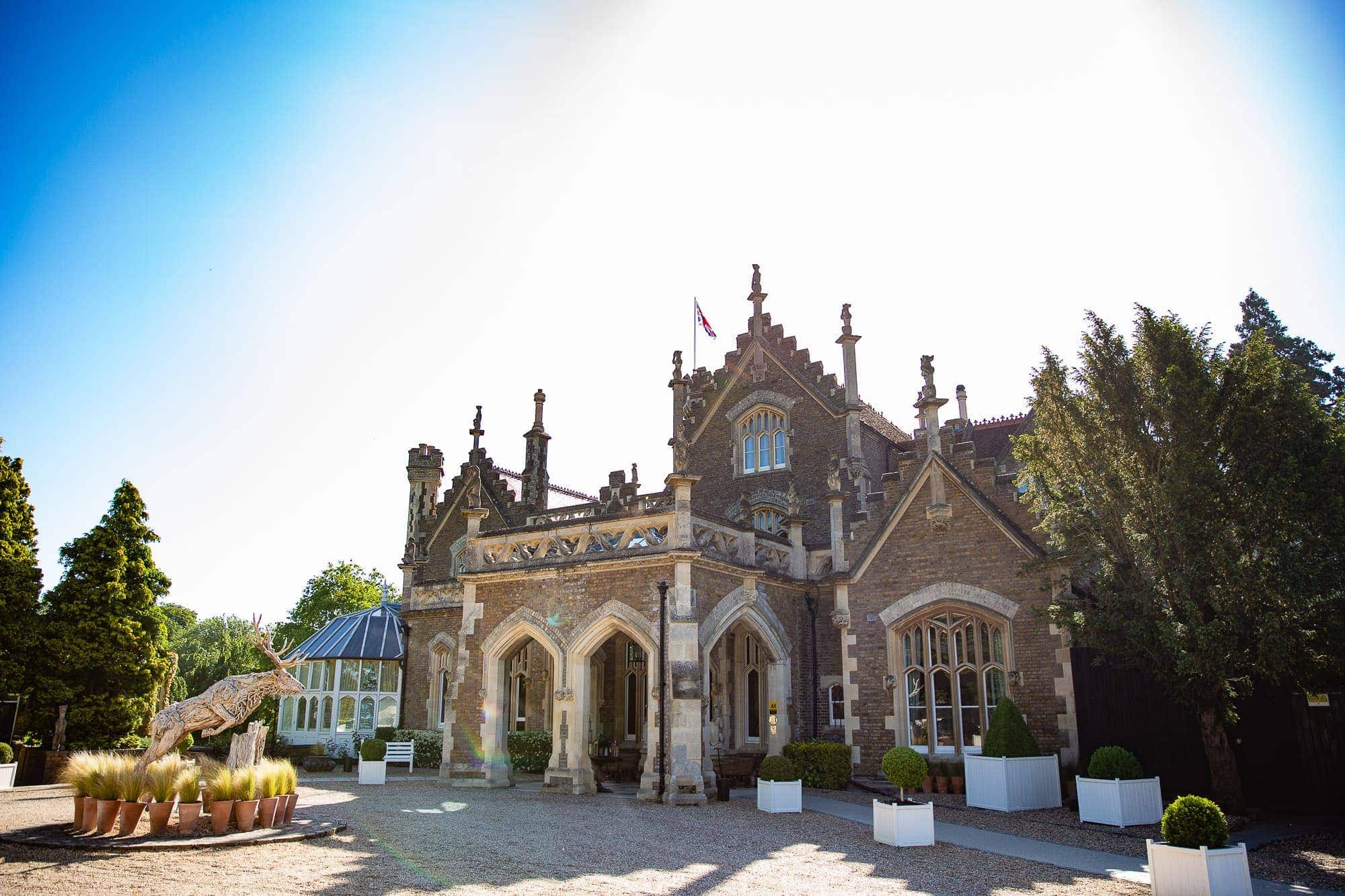 Oakley Court Wedding Venue in Berkshire - Front Entrance