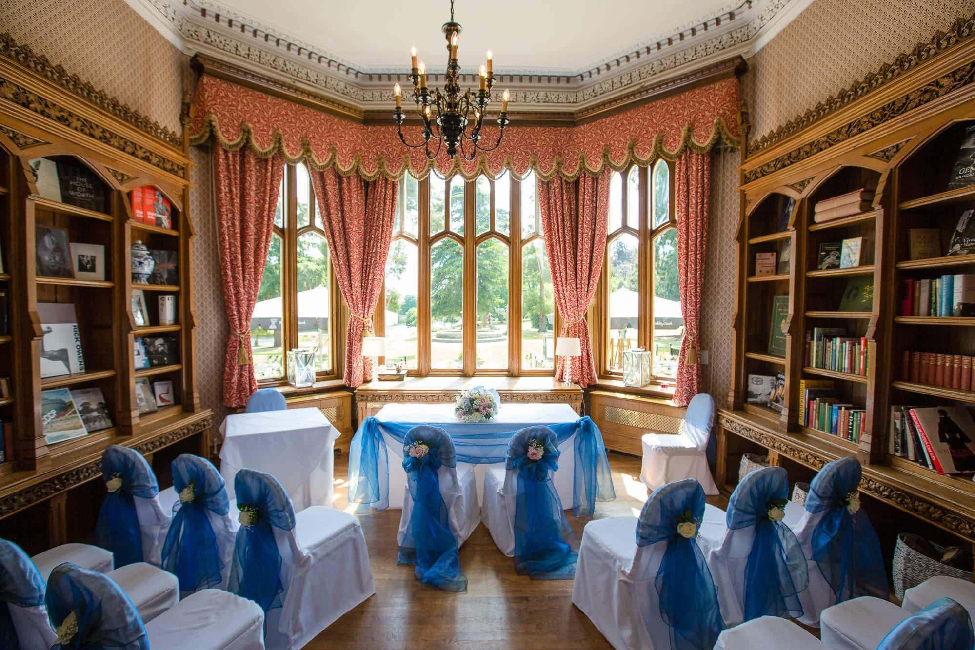 Oakley Court Hotel small wedding ceremony room