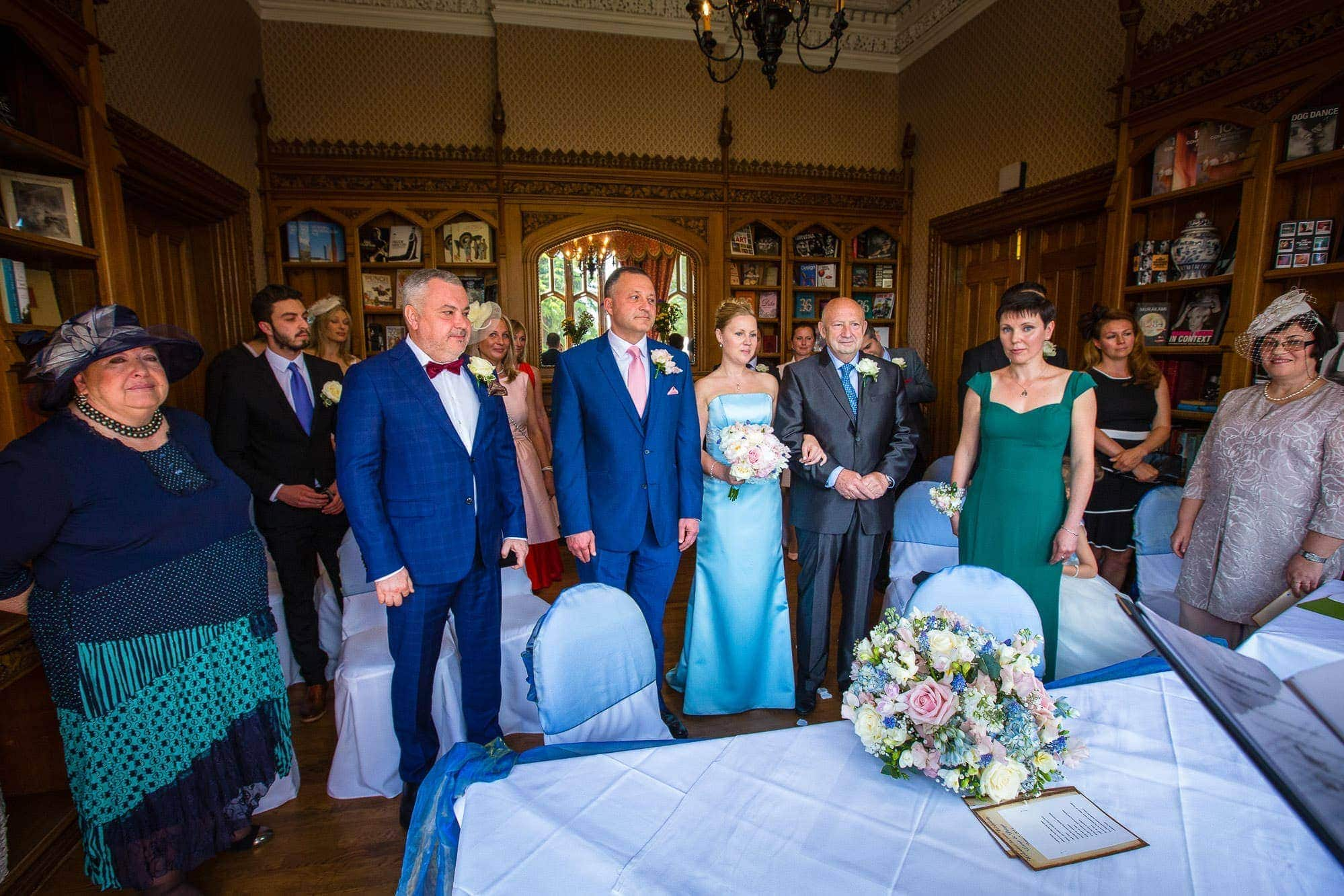 Small Wedding at Oakley Court Hotel
