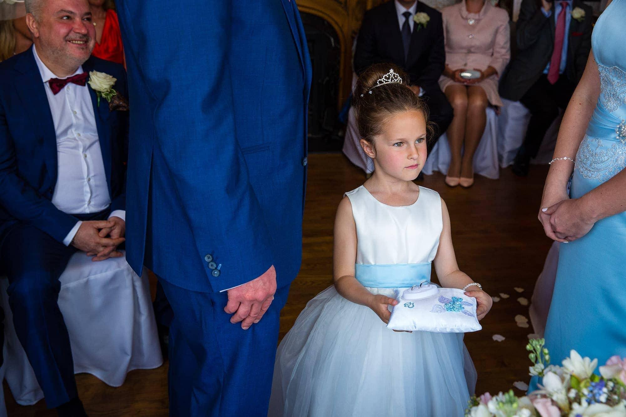 Flower Girl with Wedding Rings