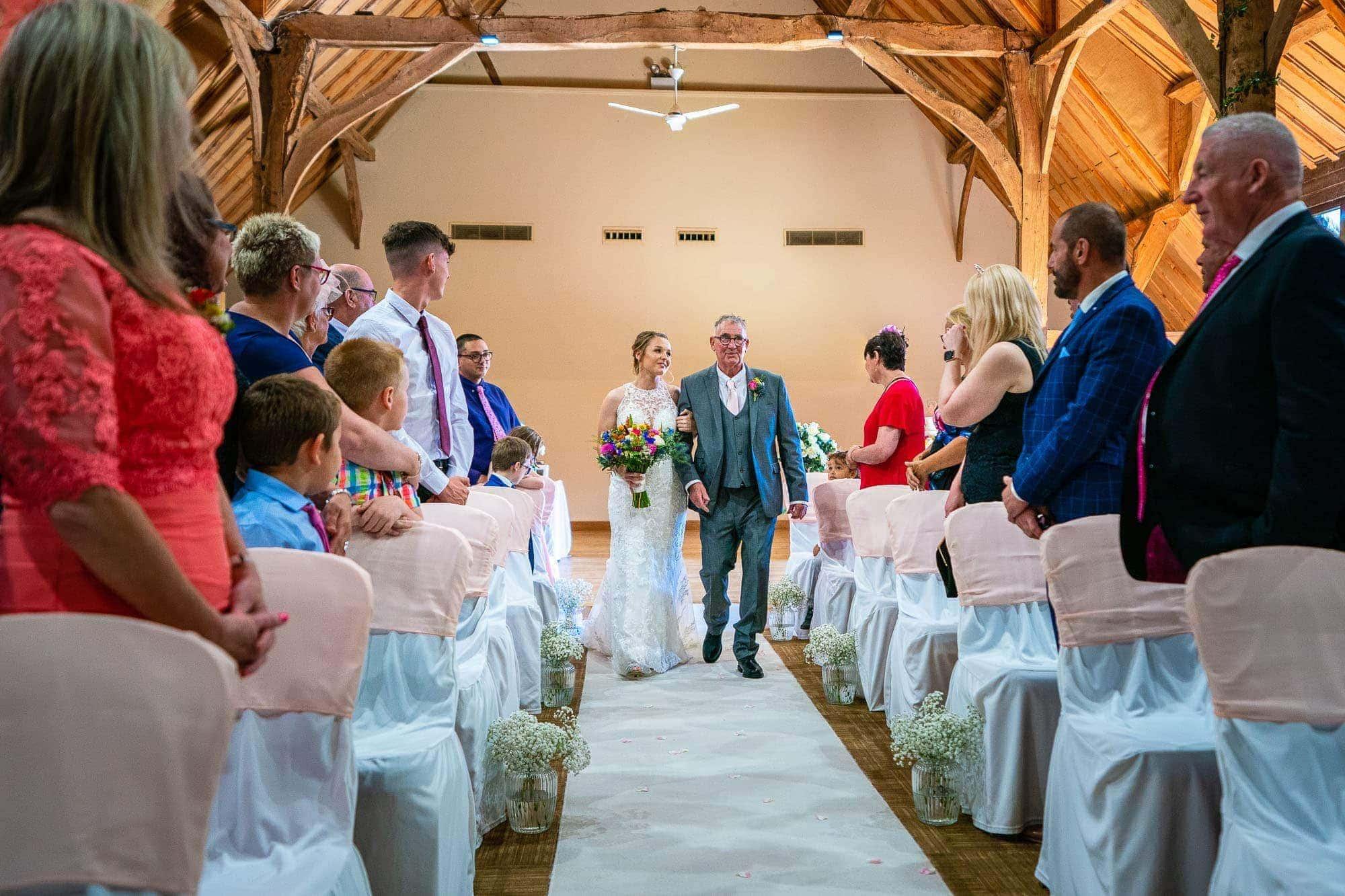 17th century Tythe Barn wedding ceremony at Norton Park Hotel
