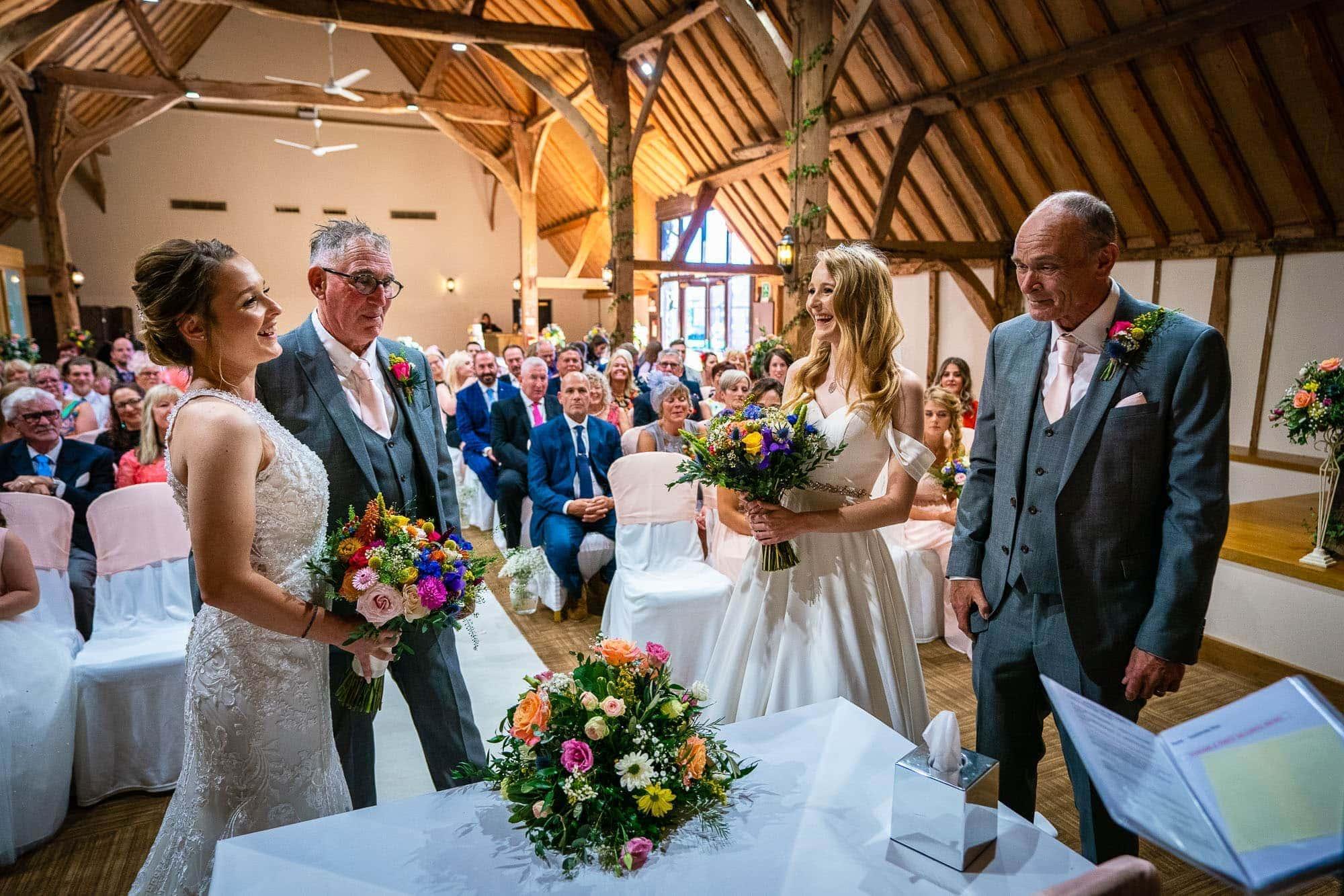 Two Brides wedding at Norton Park Hotel