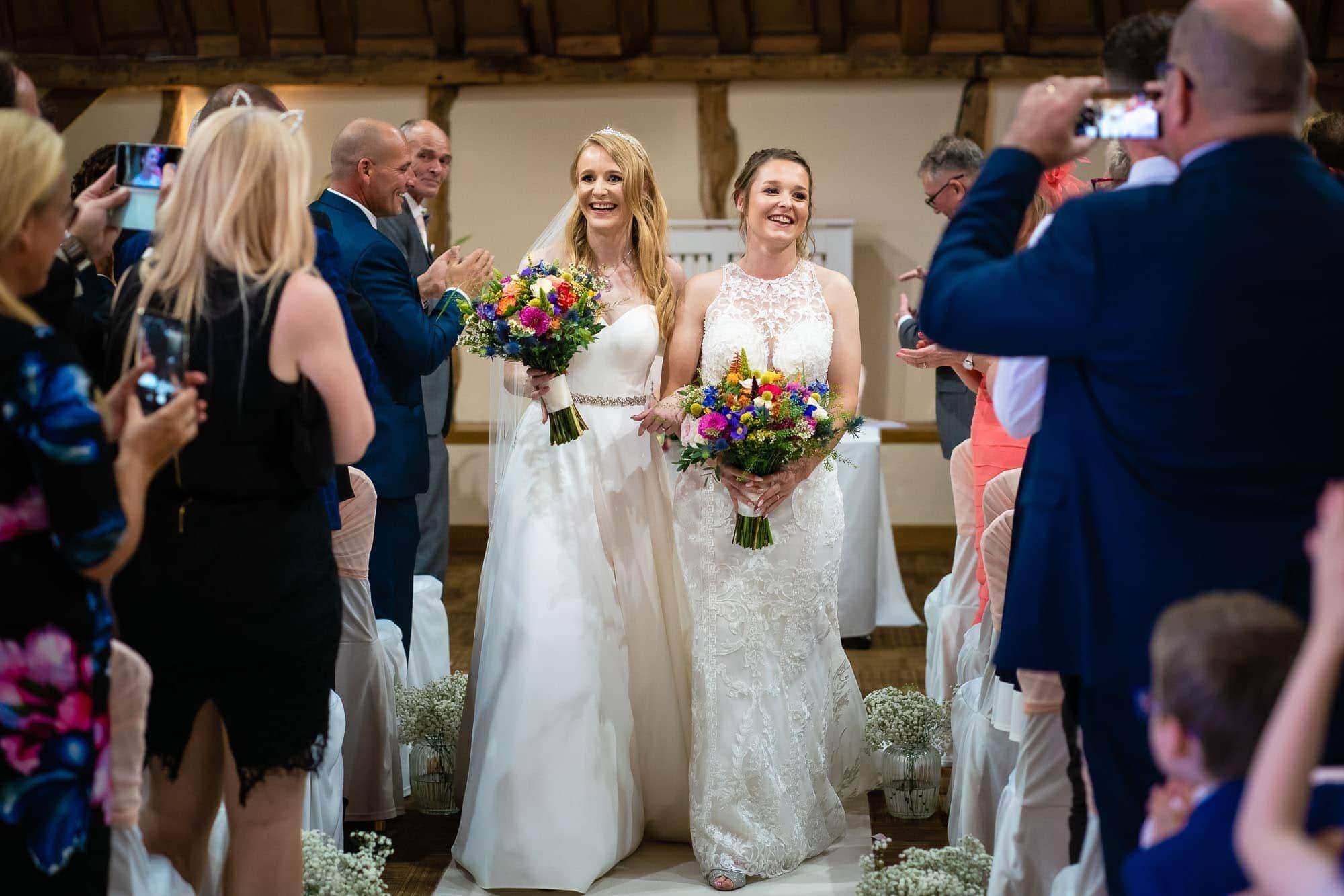 Two Brides wedding at Norton Park Hotel LBGTQ wedding