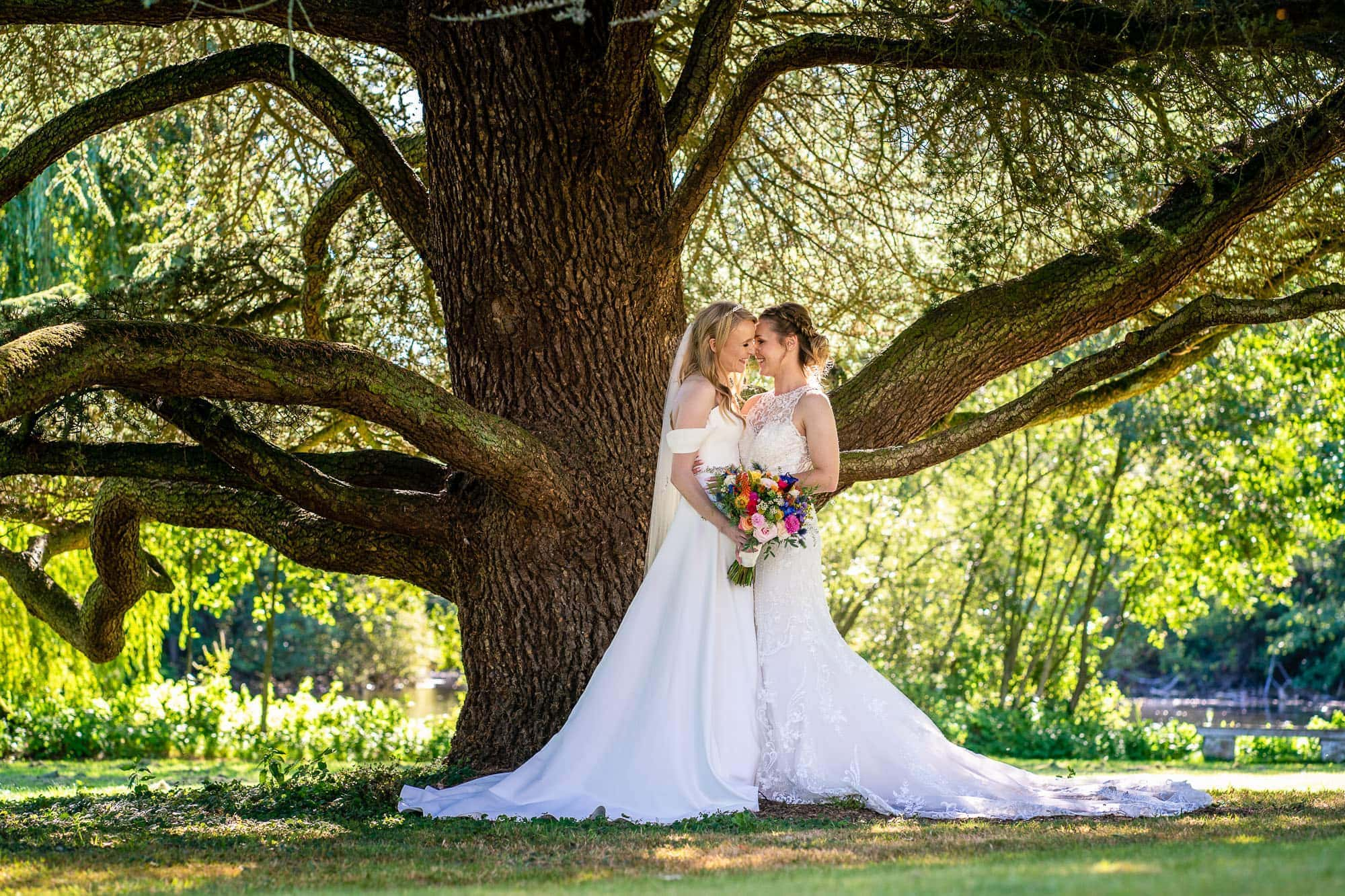 Two Brides Wedding Portrait - Norton Park wedding photography