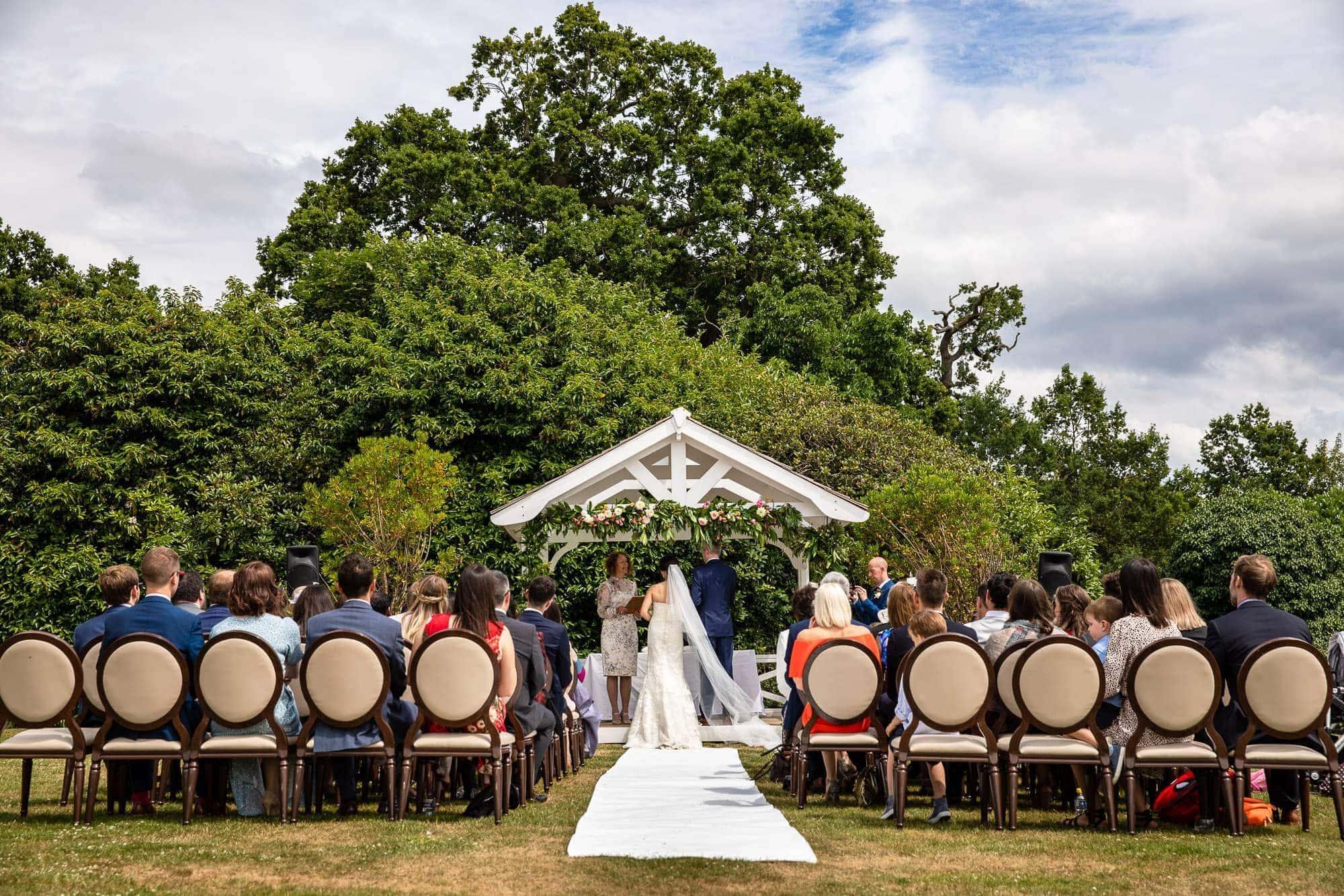 De Vere Wokefield Wedding outdoor ceremony