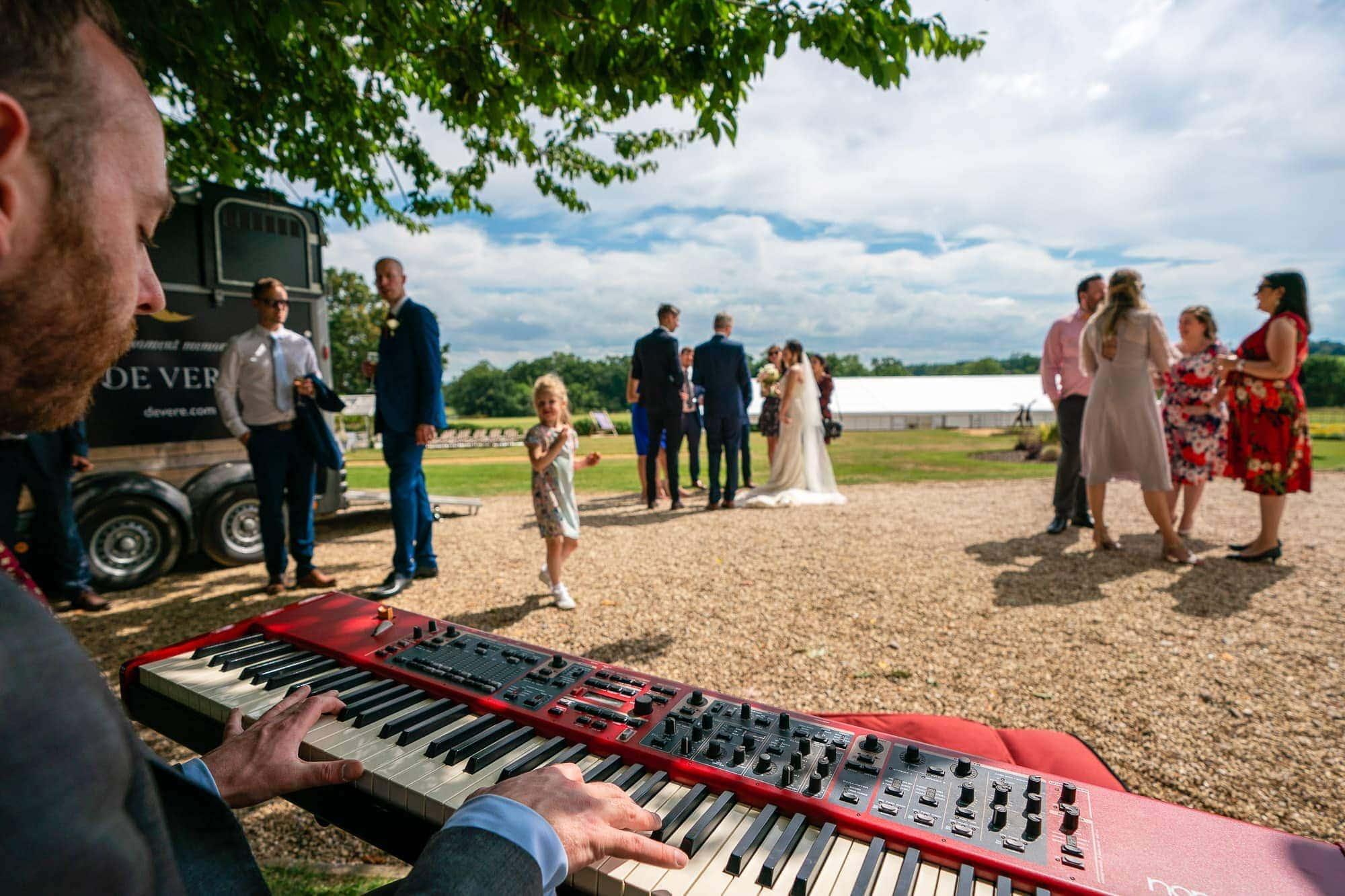 Wedding Reception outdoors at De Vere Wokefiled Estate