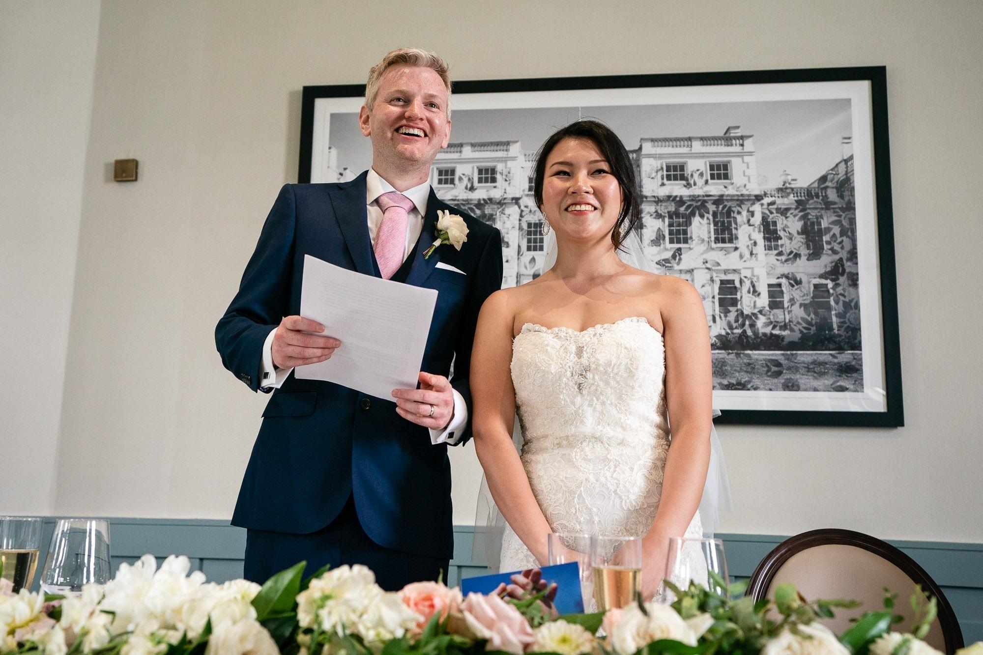 Wedding Speeches at De Vere Wokefiled Estate