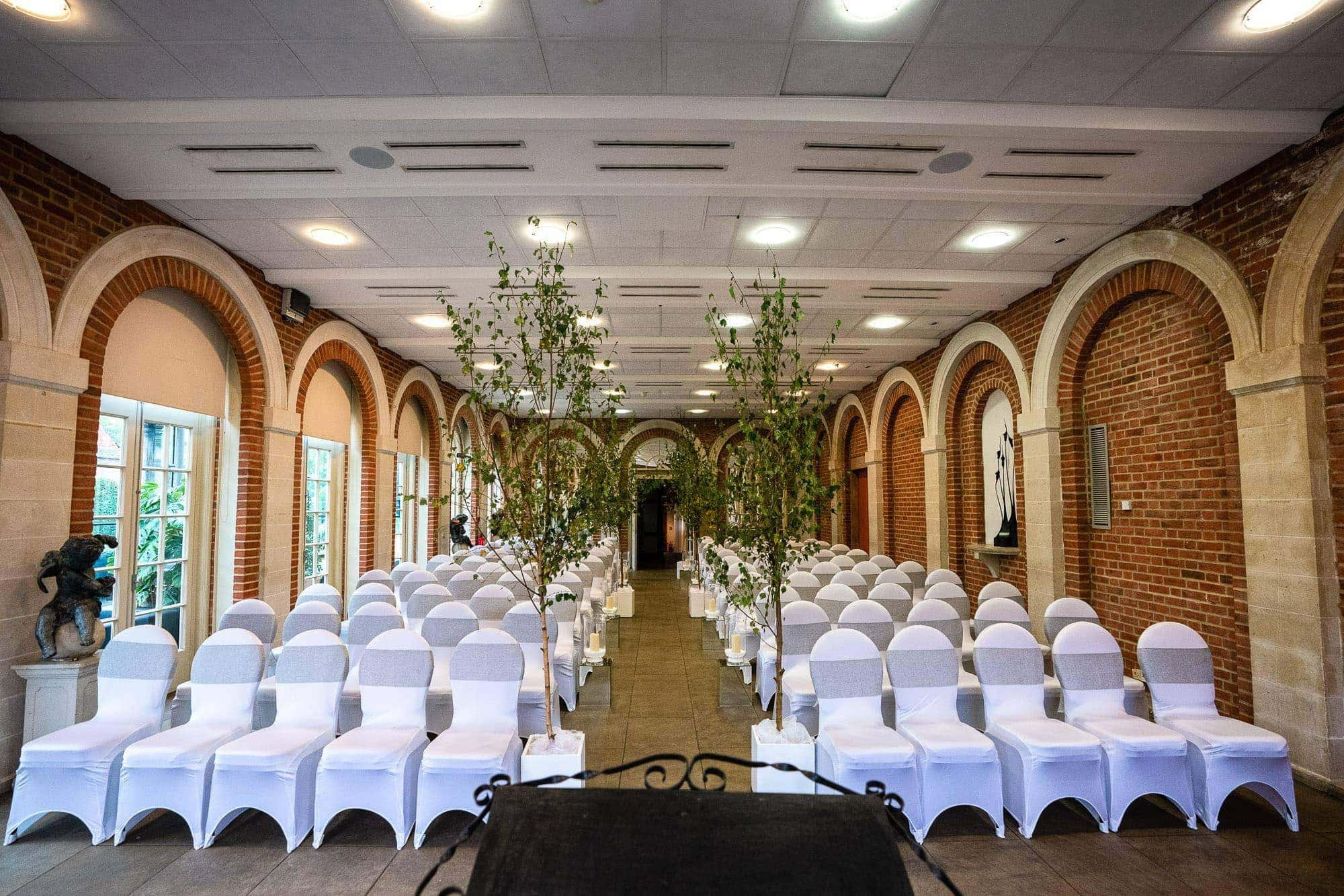 The Orangery at Great Fosters Wedding