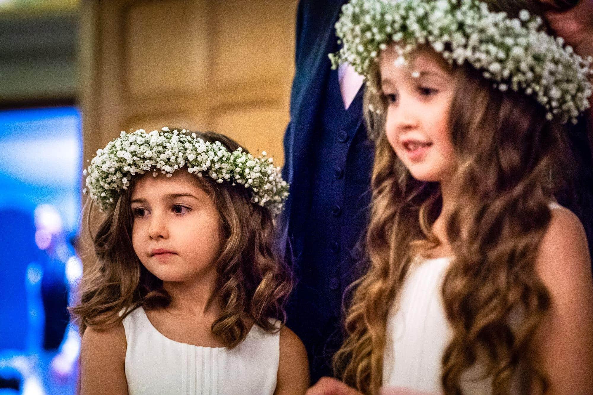 Flowers Girls in Daisy tiaras