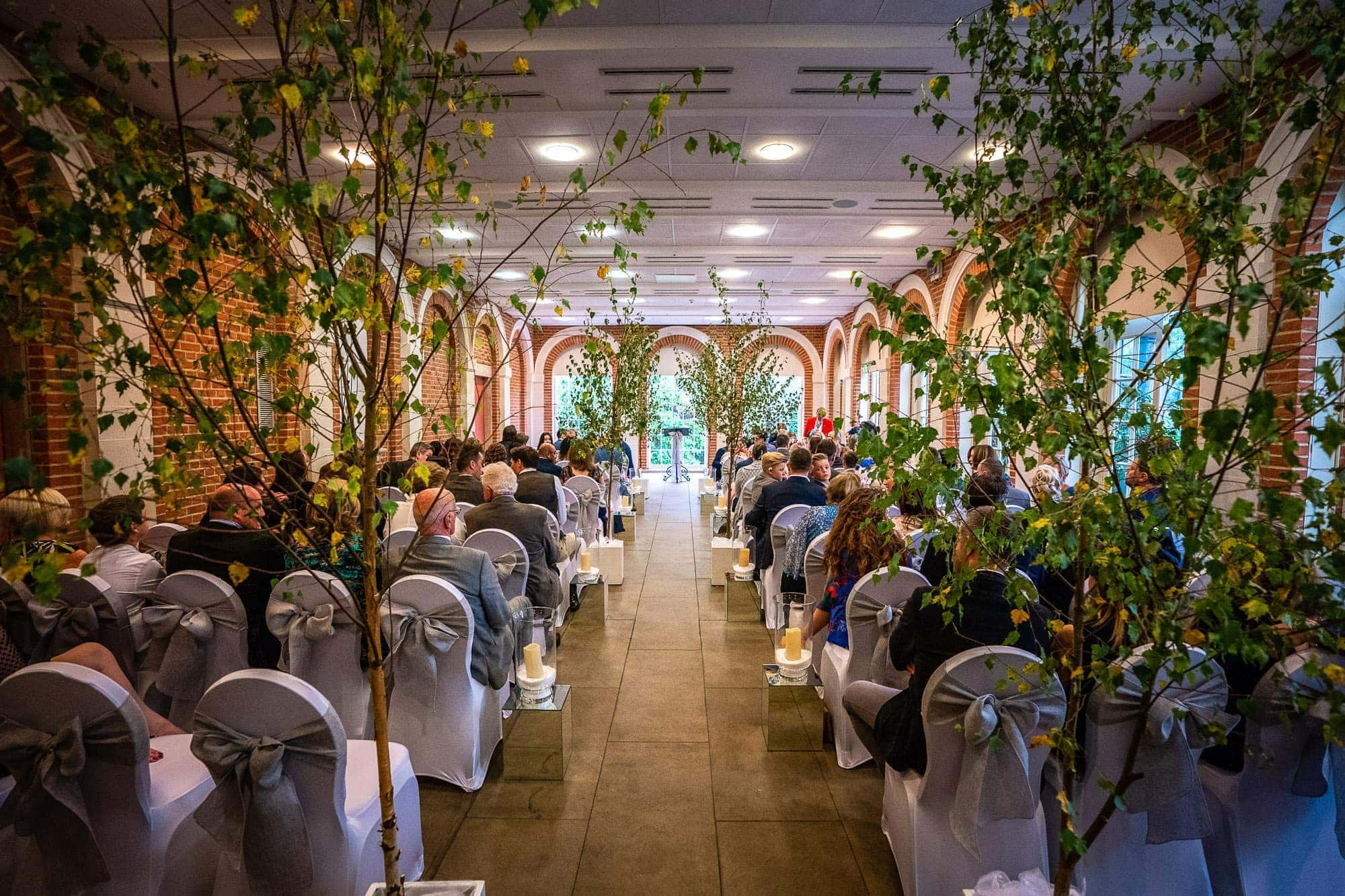 Wedding in the Orangery at Great Fosters Hotel