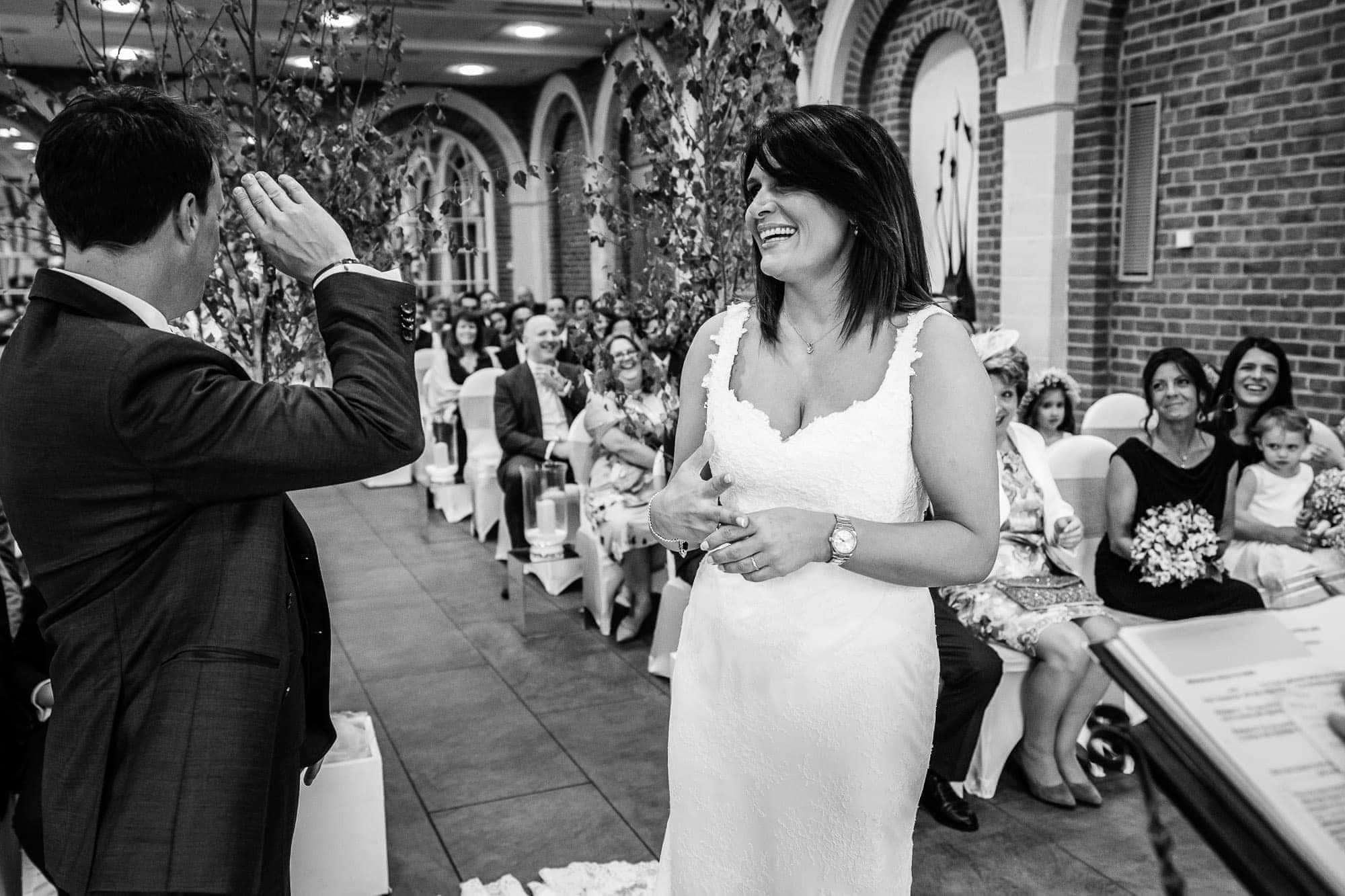 Great Fosters Orangery wedding