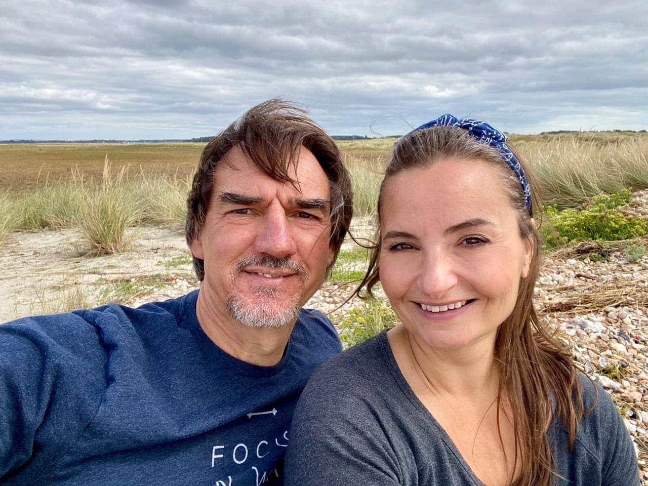 Carol & Paul Tansley - Selfie on the beach